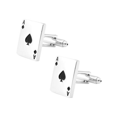 Manžetové knoflíčky - Poker eso (Ace)